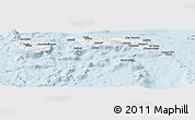 Silver Style Panoramic Map of Kab. Maluku Tengah