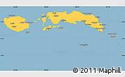 Savanna Style Simple Map of Kab. Maluku Tengah