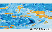 Political Shades Panoramic Map of Maluku