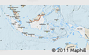 Classic Style Map of Indonesia
