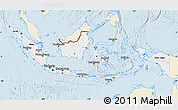 Classic Style Map of Indonesia, single color outside