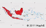 Flag Map of Indonesia, flag rotated