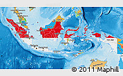 Flag Map of Indonesia, political outside