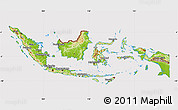 Physical Map of Indonesia, cropped outside
