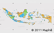 Political Map of Indonesia, cropped outside