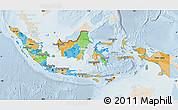 Political Map of Indonesia, lighten