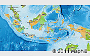Political Map of Indonesia, physical outside