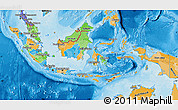 Political Map of Indonesia, political shades outside