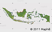 Satellite Map of Indonesia, cropped outside