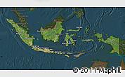 Satellite Map of Indonesia, darken