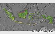 Satellite Map of Indonesia, desaturated