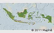 Satellite Map of Indonesia, lighten