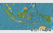 Satellite Map of Indonesia, political outside, satellite sea