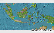 Satellite Map of Indonesia
