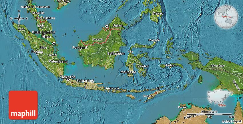 Satellite Map Of Indonesia - Indonesia map