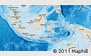 Shaded Relief Map of Indonesia