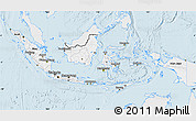 Silver Style Map of Indonesia, single color outside