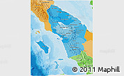 Political Shades 3D Map of North Sumatera