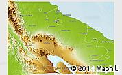 Physical 3D Map of Kab. Deli Serdang