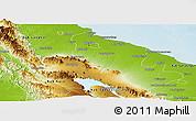 Physical Panoramic Map of Kab. Deli Serdang