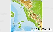 Physical 3D Map of Kab. Tapanuli Selatan