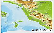 Physical Panoramic Map of Kab. Tapanuli Selatan