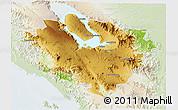 Physical 3D Map of Kab. Tapanuli Utara, lighten