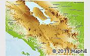Physical 3D Map of Kab. Tapanuli Utara