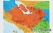 Political 3D Map of Kab. Tapanuli Utara