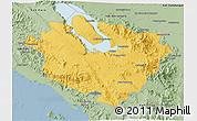 Savanna Style 3D Map of Kab. Tapanuli Utara