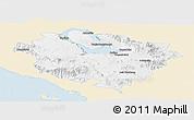 Classic Style Panoramic Map of Kab. Tapanuli Utara, single color outside