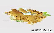 Physical Panoramic Map of Kab. Tapanuli Utara, cropped outside