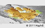 Physical Panoramic Map of Kab. Tapanuli Utara, desaturated