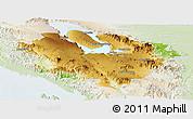 Physical Panoramic Map of Kab. Tapanuli Utara, lighten