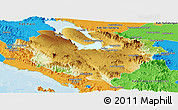 Physical Panoramic Map of Kab. Tapanuli Utara, political outside