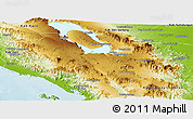 Physical Panoramic Map of Kab. Tapanuli Utara