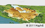 Physical Panoramic Map of Kab. Tapanuli Utara, satellite outside