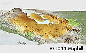 Physical Panoramic Map of Kab. Tapanuli Utara, semi-desaturated