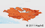 Political Panoramic Map of Kab. Tapanuli Utara, single color outside