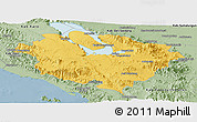 Savanna Style Panoramic Map of Kab. Tapanuli Utara