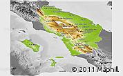Physical Panoramic Map of North Sumatera, desaturated