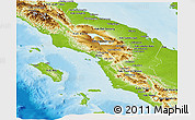 Physical Panoramic Map of North Sumatera