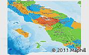 Political Panoramic Map of North Sumatera