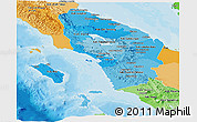 Political Shades Panoramic Map of North Sumatera