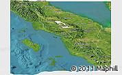 Satellite Panoramic Map of North Sumatera