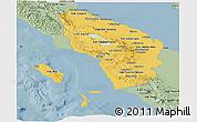 Savanna Style Panoramic Map of North Sumatera