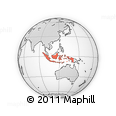 Outline Map of Indonesia