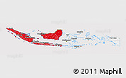Flag Panoramic Map of Indonesia, flag rotated
