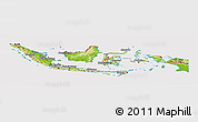Physical Panoramic Map of Indonesia, cropped outside