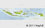 Physical Panoramic Map of Indonesia, lighten